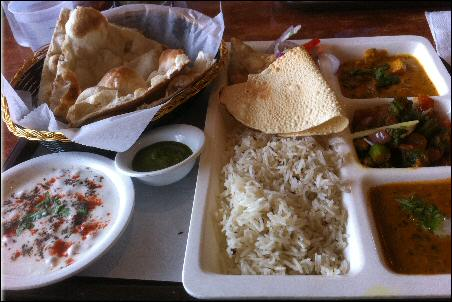 Spice Zone Vegetarian Curry Platter