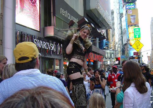 Look Up to This Beauty in Times Square NYC