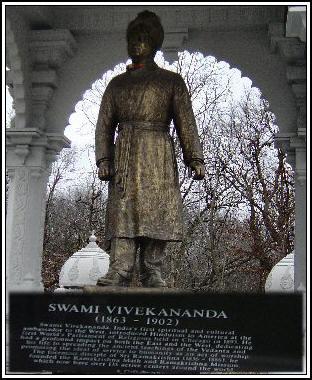 Swami Vivekananda Statue at Rama Temple Lemont, IL