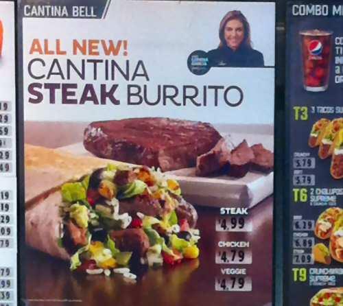 Taco Bell New Cantina Burrito - Image © SearchIndia.com