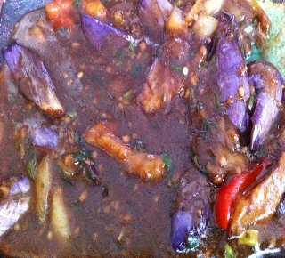 Tangra Masala eggplant manchurian