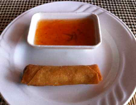 Spring Roll with Sweet and Sour Sauce