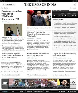 Times of India for iPad