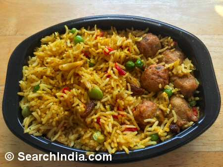 Vegetable Rice Biryani with Dumplings - Image © SearchIndia.com