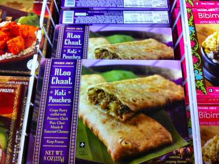 Trader Joe's Aloo Chaat Kati Pouches Box - Image © SearchIndia.com