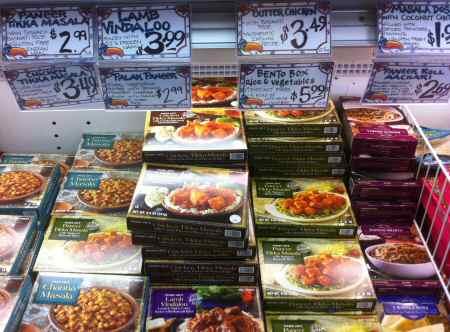 Trader Joe's Heat and Eat Indian Food