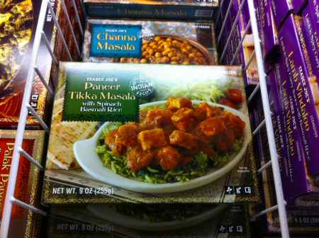 Trader Joe's Paneer Tikka Masala & Spinach Rice Box  - Image © SearchIndia.com