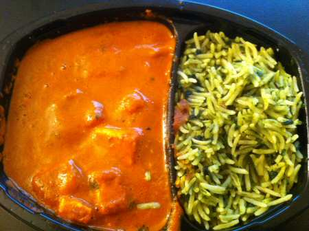 Trader Joe's Paneer Tikka Masala & Spinach Rice  - Image © SearchIndia.com