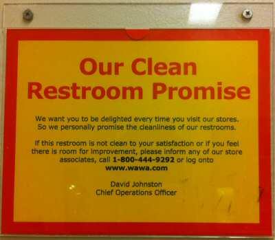 Wawa Restroom Promise